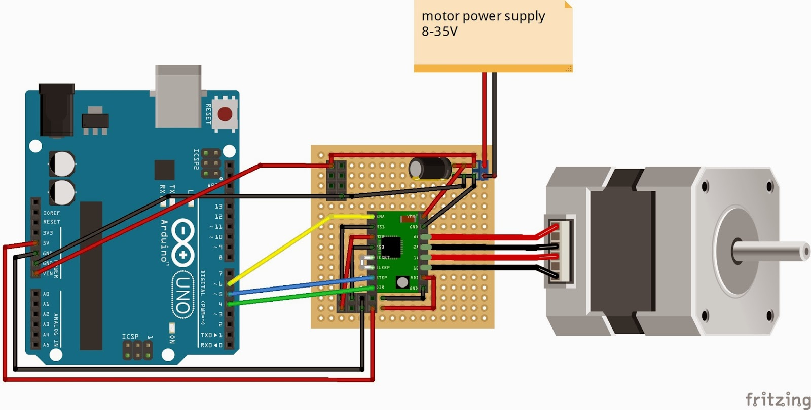4 wire motor connection diagram 7 trailer cable stepper controller schematic get free image