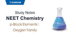 p-Block Elements - Oxygen Family