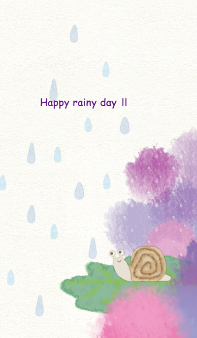 Happy rainy day / Snail