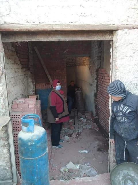 استمرار التصدى لمخالفات البناء والمخالفين للقانون بحي غرب سوهاج