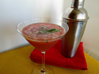 Strawberry and Basil Martini
