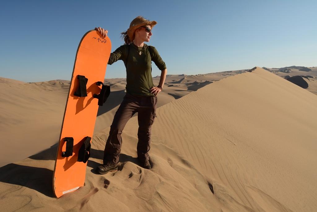 Сэндбординг в пустыне Атакама в Чили