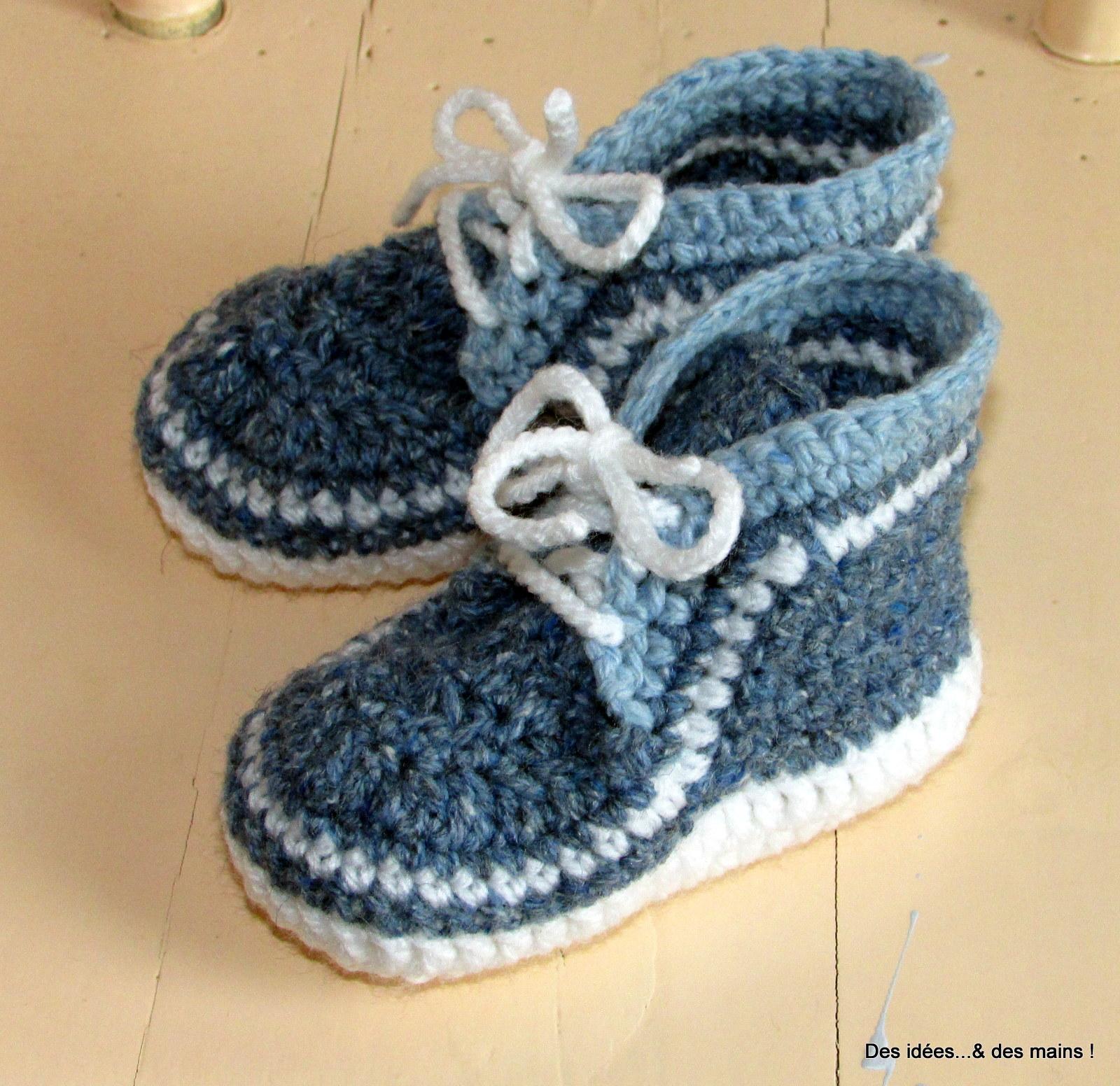 Des idées...  des mains !  Baskets au crochet pour bébé 9eadca71d32