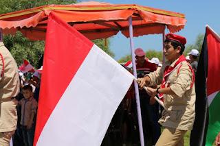 LAGU INDONESIA RAYA BERKUMANDANG DI PALESTINA, MUSLIM GAZA IKUT RAYAKAN HUT RI KE 71 - COMMANDO