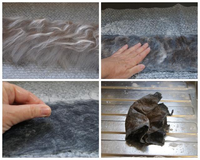 DIY Armband nass filzen