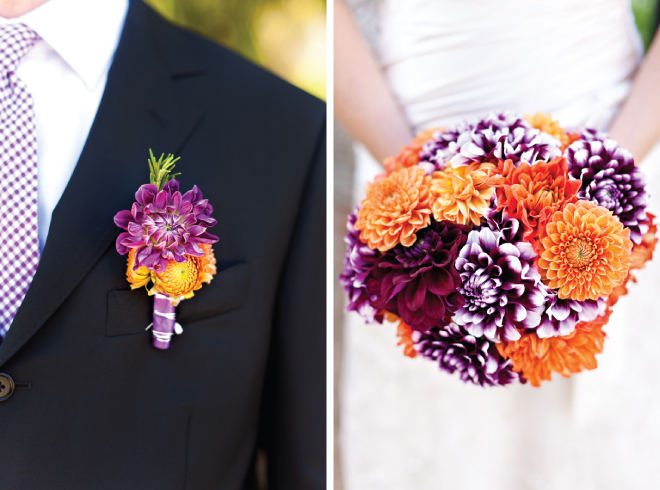 Purple and Orange Wedding Inspiration: Larissa + Tony - Belle The ...