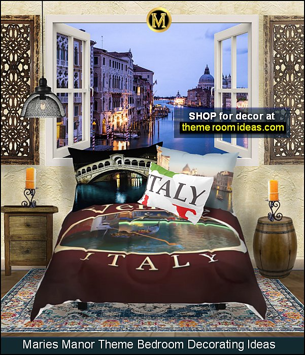 venice italy travel bedrooms venice canal bedroom ideas venice mural italy wallpaper venice bedding italy themed bedrooms travel bedroom decor Rome Tuscany bedroom ideas