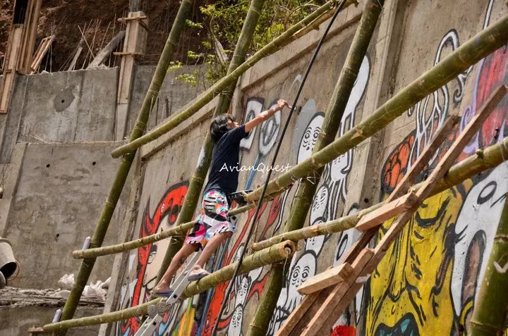 Tamawan Village Making of a Graffitti Mural Baguio City Philippines 46