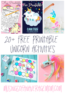 free printable unicorn activities
