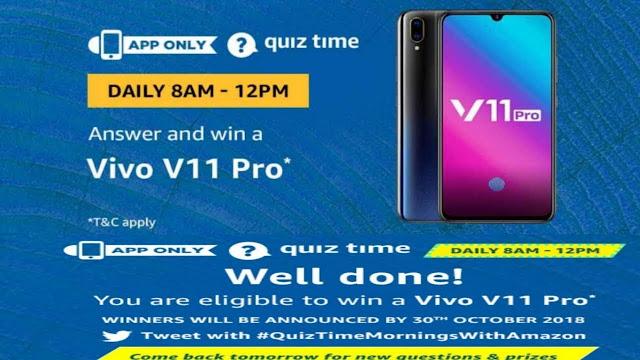 amazon-quiz-9-january-answers-win-vivo-v11-pro