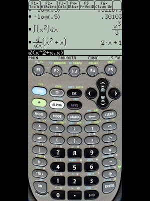 ti89 instalado en una tablet