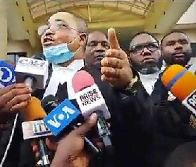 Nnamdi Kanu's Lawyers address the press