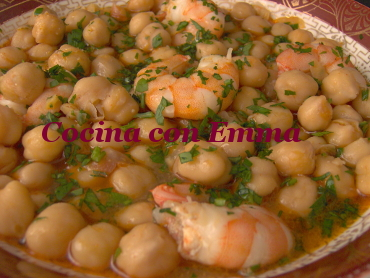 Garbanzos con sabor a mar