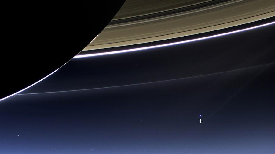 Hình ảnh Trái Đất được chụp từ Sao Thổ. Hình ảnh: NASA/JPL-Caltech.