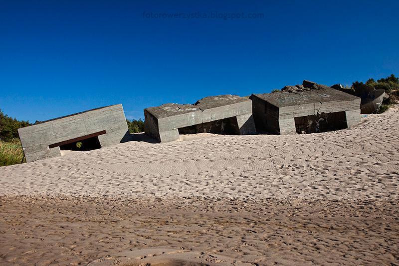 bunkry przy plaży