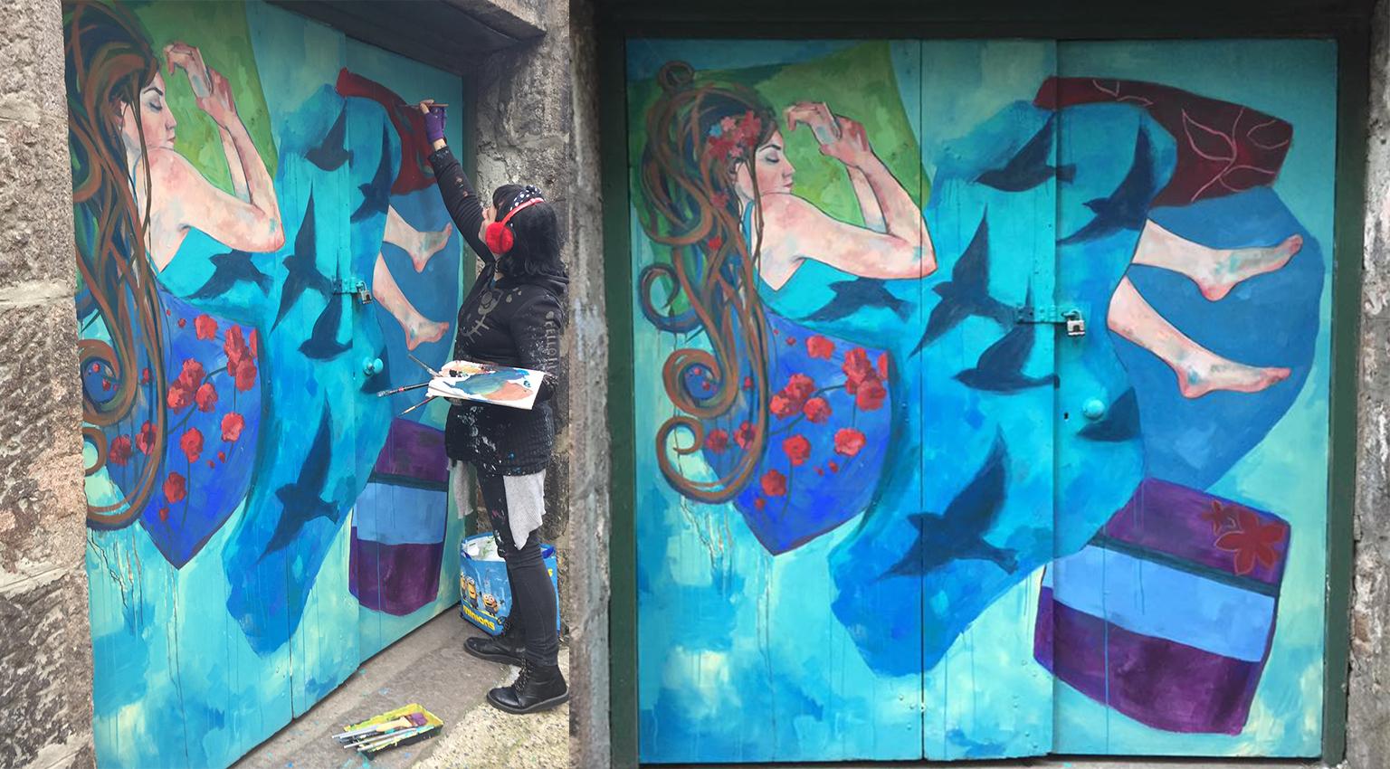 Graffiti wall cairns - Dancing In The Dark Creativity Culture In Aberdeen Beyond Painted Doors Aberdeen Project Recap