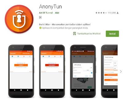 cara merubah kuota maxstream dengan aplikasi anonytun