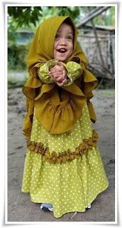 Baju gamis Syar'i anak