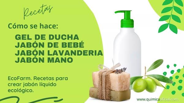 Recetas para hacer Jabón de mano y ropa, Gel de Ducha, Shampoo