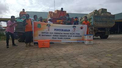 BPBD Malut Salurkan Bantuan Kepada Korban Terdampak Banjir Di Taliabu