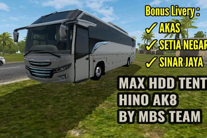 Download MOD BUSSID MAX HDD Tentrem Hino AK8 By MBS Team