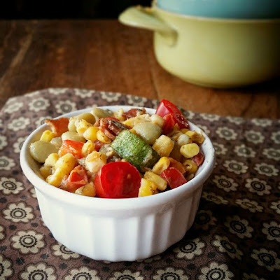 Sweet Corn Succotash with Bacon