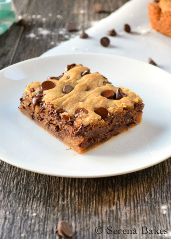Brown Butter Blondies are a chocolate chip cookie meets brownies! These are a favorite recipe for dessert, snack, Super Bowl, and Christmas from Serena Bakes Simply From Scratch.