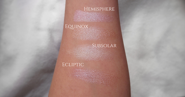 Sleek Solstice Highlighter swatch natural light