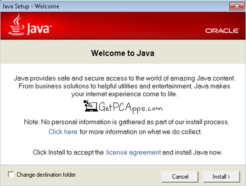 Java Runtime Environment (JRE) (64-Bit) Setup for Windows [10, 8, 7]