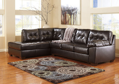 Brown DuraBlend Ashley sectional