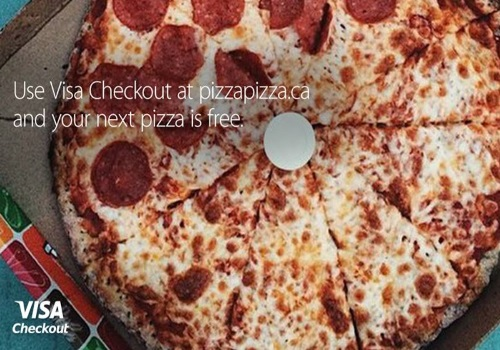 Pizza Pizza Free Pizza Visa Checkout Offer