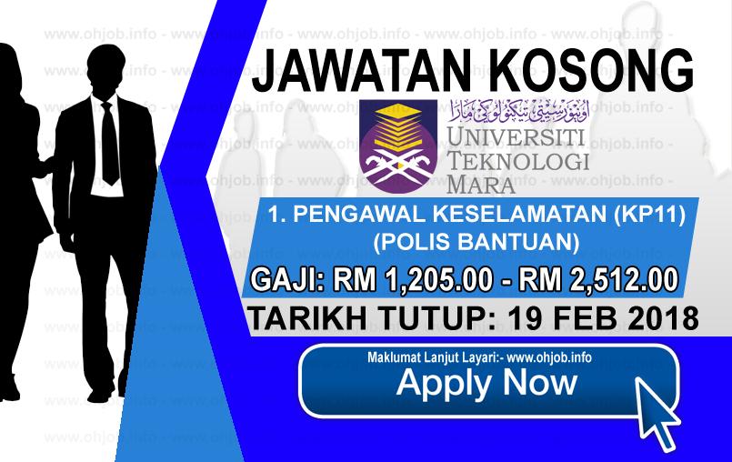 Jawatan Kerja Kosong Universiti Teknologi MARA - UiTM logo www.ohjob.info februari 2018