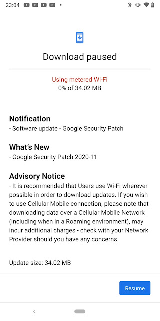 Nokia 9 PureView receiving November 2020 Android Security patch