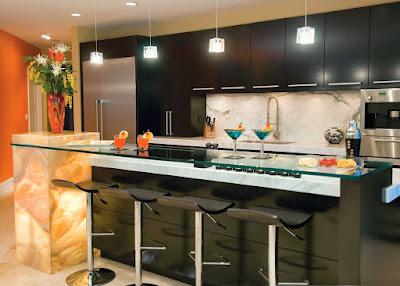 Model Meja Bar Untuk Interior Dapur Minimalis Yang Elegant