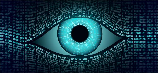 عين تمثل المراقبة الرقمية.