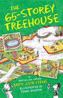Book cover image of The 65-storey treehouse