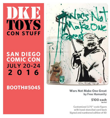 San Diego Comic-Con 2016 Exclusive Wars Not Make One Great Star Wars Yoda Action Figure by Free Humanity x DKE Toys