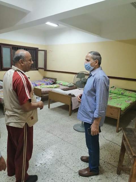 عبدالله يتابع استراحات المعلمين بامتحانات الدبلومات الفنية بالفيوم