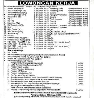Lowongan Kerja SPBU Pidie Jaya Aceh