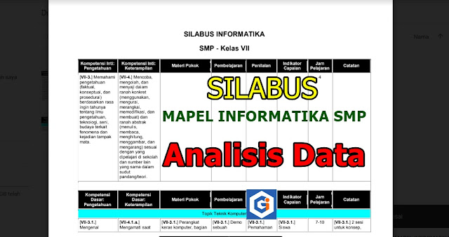 SILABUS MAPEL INFORMATIKA SMP: TOPIK ANALISIS DATA