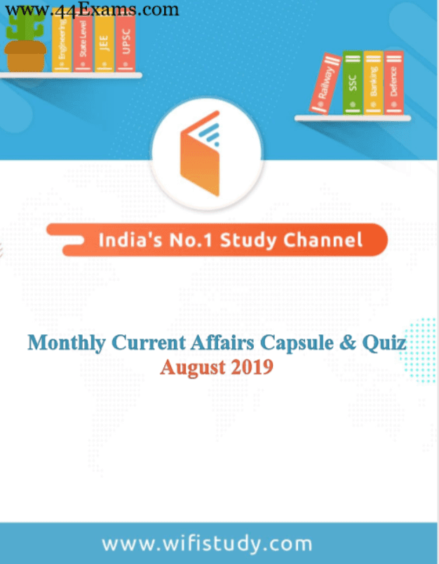 Wifistudy-Current-Affairs-August-2019-For-All-Competitive-Exam-PDF-Book