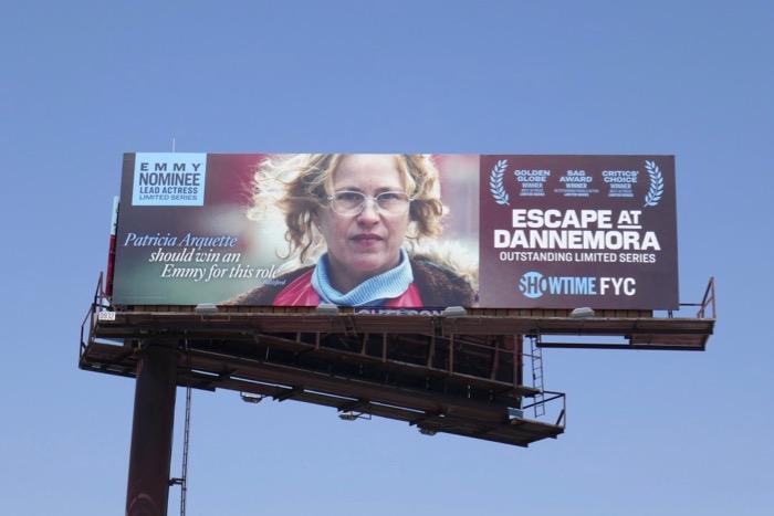 Patricia Arquette Escape at Dannemora Emmy nominee billboard