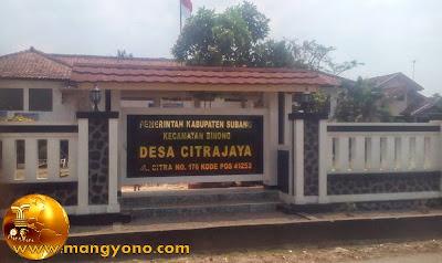 Desa Citrajaya, Kecamatan Binong, Alamat Jl. Citra No 176 Kode Pos 41253. Poto Jepretan kang Ian Susanto - Facebooker Subang ( FBS )