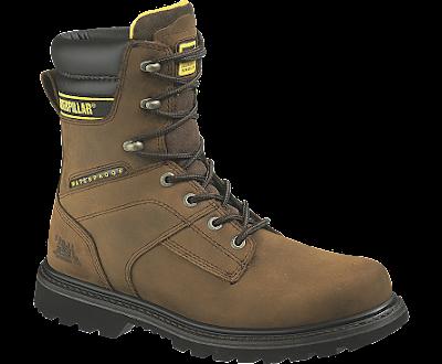 Sepatu Safety Caterpillar Salvo 8 inc ST Waterproof Dark Brown Original