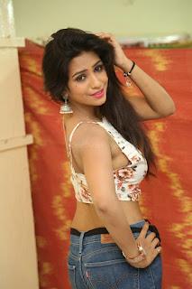 Deekshita Parvathi in a short crop top and Denim Jeans Spicy Pics Beautiful Actress Deekshita Parvathi January 2017 CelebxNext (58).JPG