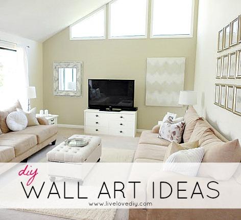 LiveLoveDIY DIY Wall Art Ideas \ Living Room Updates   Diy Living Room Ideas
