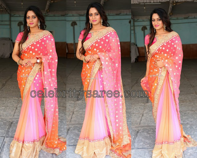 Udhaya Bhanu Dual Color Saree