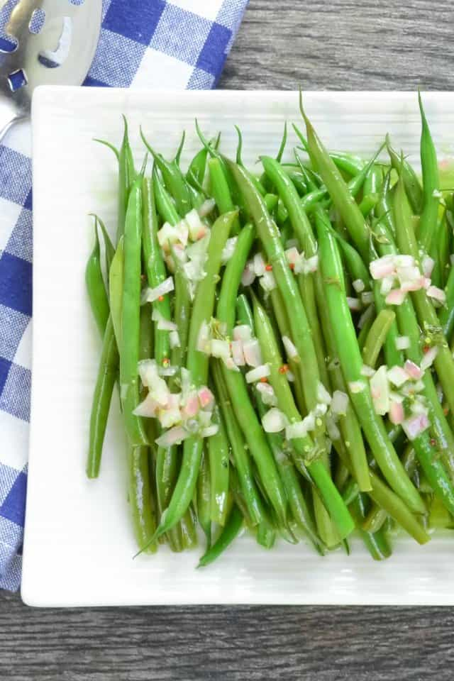 Green Bean Salad With Grainy Dijon Shallot Vinaigrette from Serena Bakes Simply From Scratch.