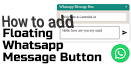 How to put Whatsapp contact Button on your Blog (Blogspot)