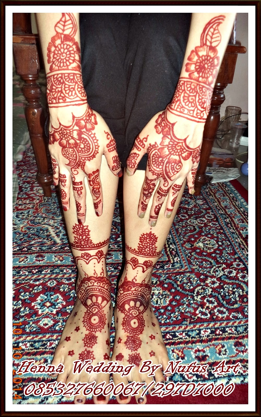Gambar Henna Tangan Dan Kaki Pengantin Balehenna